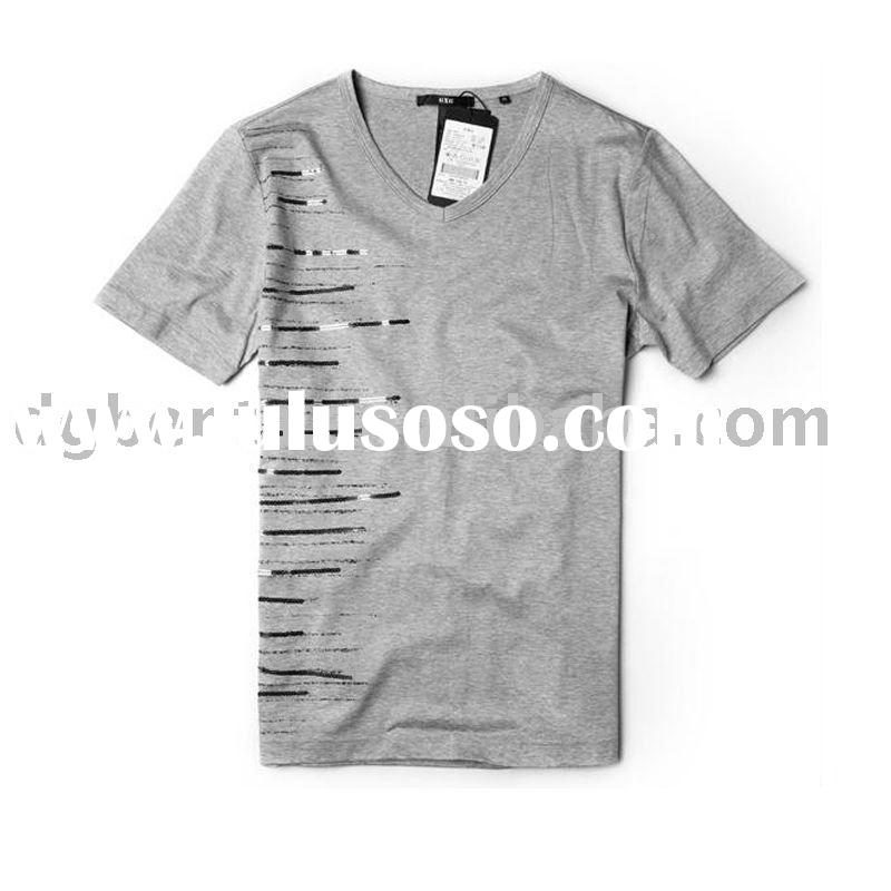 2012 Hot Sell Guangzhou Newest Plain Cotton Man't Fashion T shirts