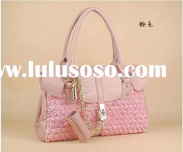 2012 Korea new arrival ladies shoulder handbag with flower style