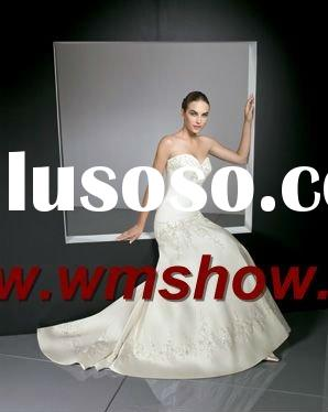 2012 Latest Design Embroidered Lebanon Designer Wedding Dresses