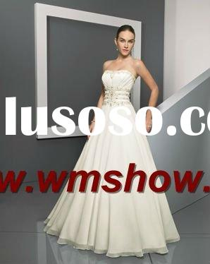 2012 Latest Style Strapless Lebanon Designer Wedding Dresses