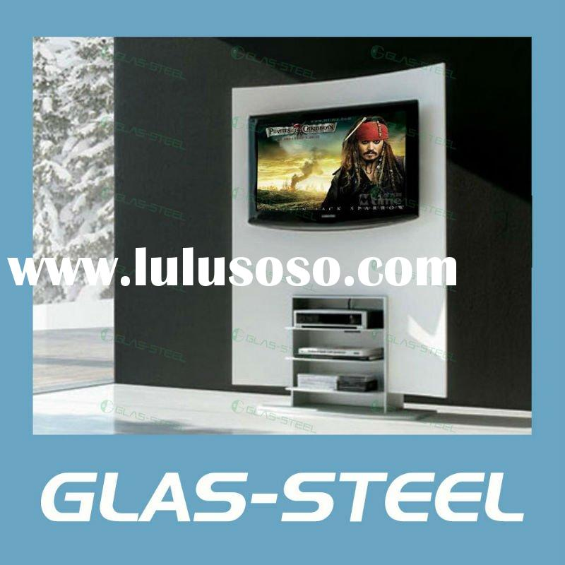2012 Living Room Modern TV Stand Glass LCD TV Wall WC-ST179