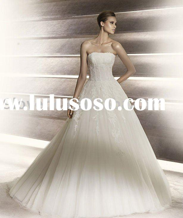 2012 New Luxury lace ball gown wedding dress PRO2012-1
