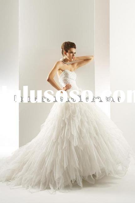 2012 New style most popular beautiful wedding dress