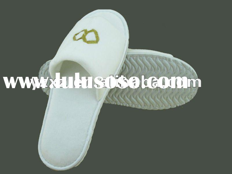 2012 new cotton towelling disposable hotel slippers