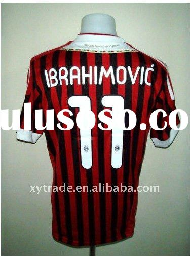 2012 season thai quality red HOME AC MILAN soccer JERSEY