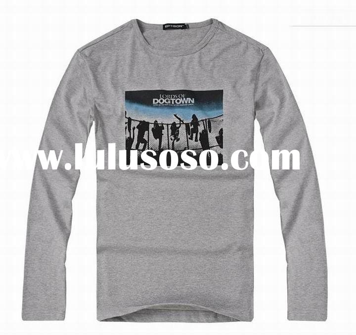 2012 spring men's fashion cotton long sleeve T-shirts