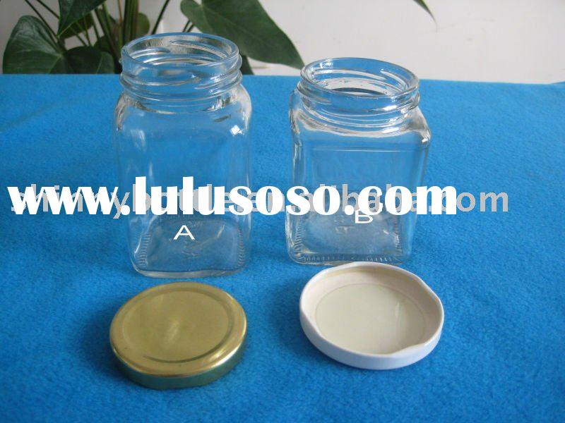 250ml square mason jar for food packing