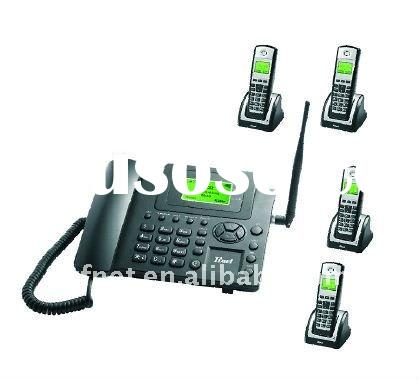 2.4G GSM fixed wireless phone GSM wireless telephone with handsets . GSM SIM card desktop phone.