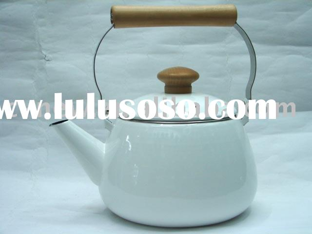 2.4L Porcelain Enamel Tea kettle ceramic mug water bottle Decor
