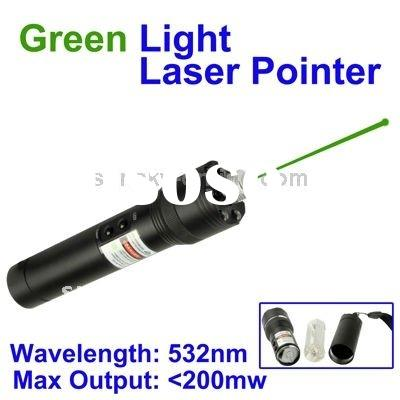 2 in 1 (200mw Green Light Laser Pointer Pen + LED Flashlight), Can Light The Matches