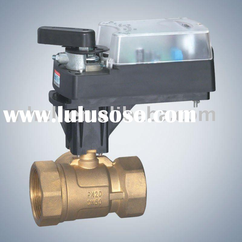 2 way ball valve with electric actuator-AC220V