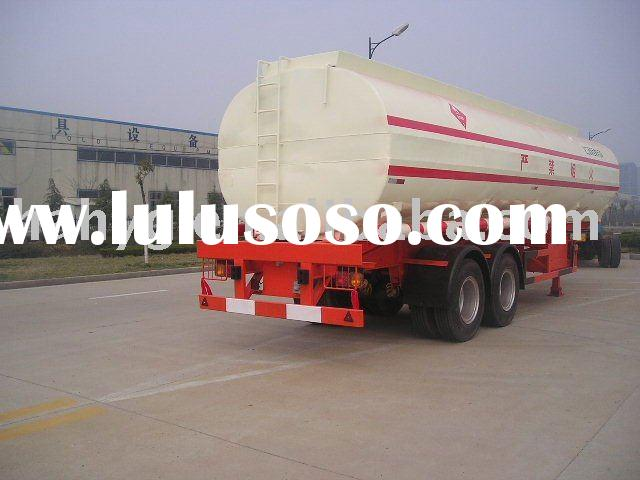 2axles carbon steel or aluminiual Fuel Tank trailer for transportation oil, fuel, jet oil, diesel, c