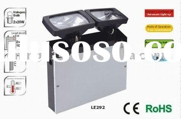 2x20W Rechargeable Emergency Twin Spot Light-LE292: dual header, self-maintenance, with LED indicato