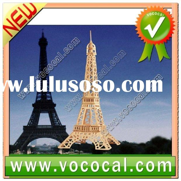 3D Jigsaw Puzzle Toy Woodcraft Eiffel Tower