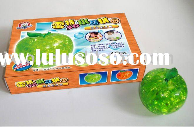 3D crystal apple/Jigsaw Puzzle/intelligence toy