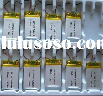 3.7V 350mAh Rechargeable Lithium Polymer Battery