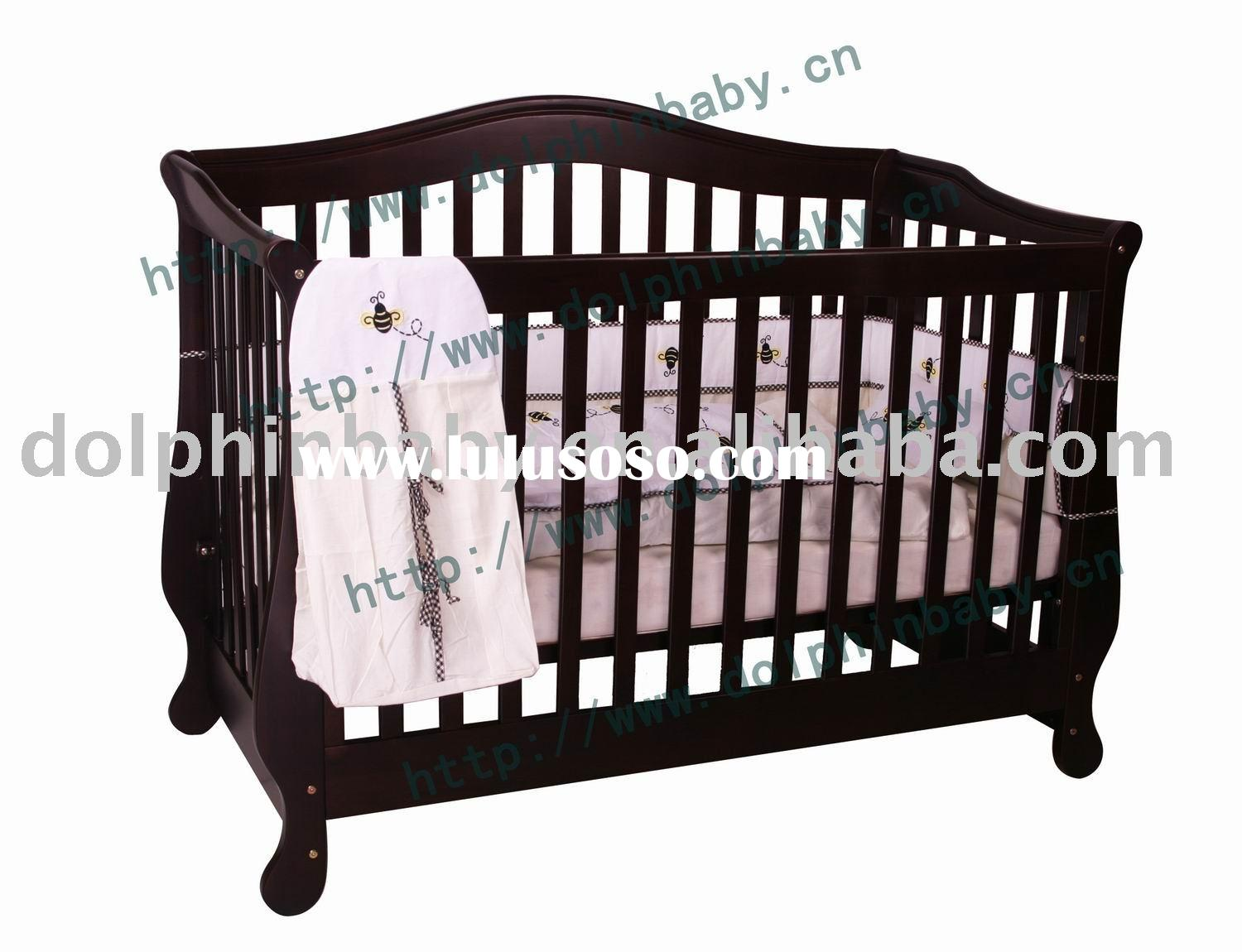 3-in-1 Wooden Convertible Crib,Baby Furniture Cribs