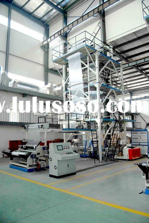 3-layers Co-extrusion Internal Bubble Cooling(IBC) Haul-Off Rotary Blown film extrusion machine