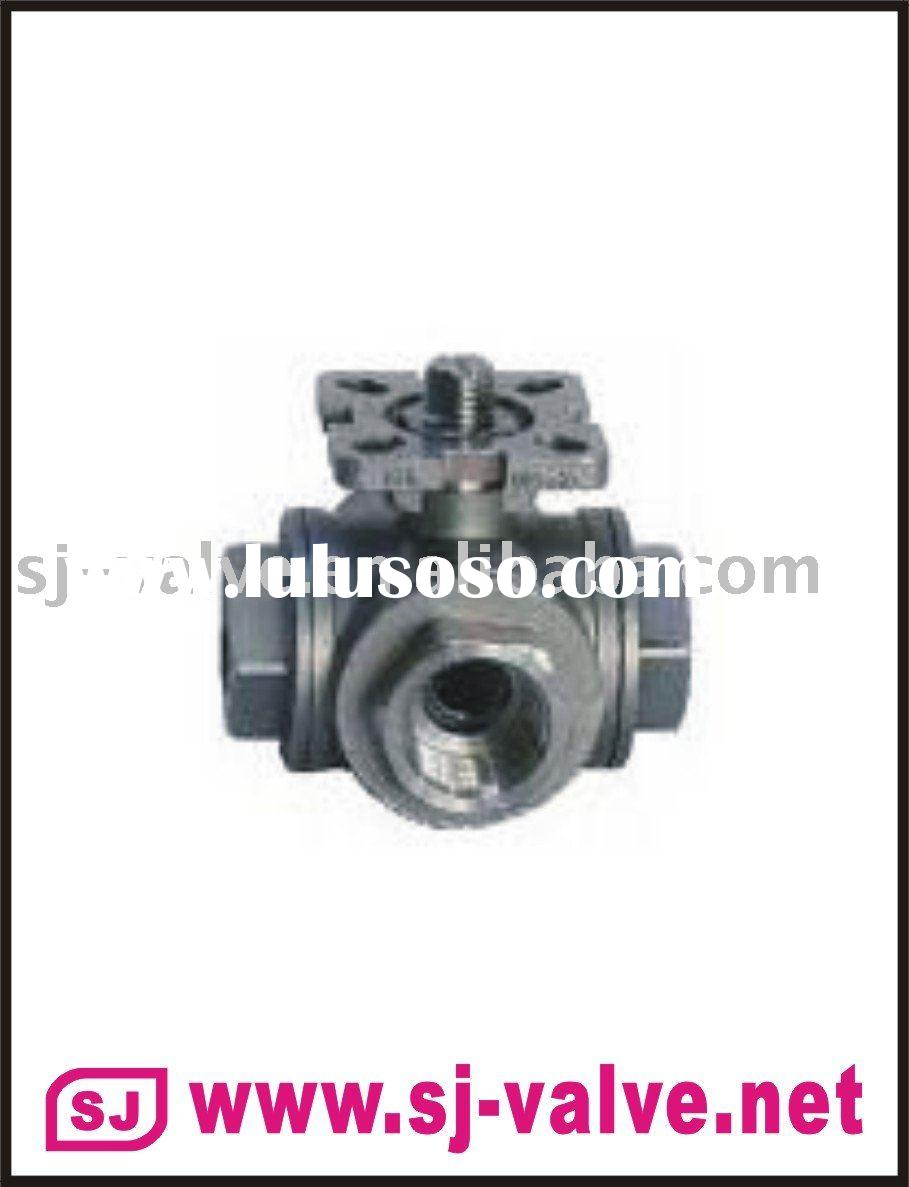 3 way ball valve with ISO mounting pad