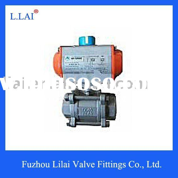 3pcs Welded Full Port Stainless Steel Ball Valve