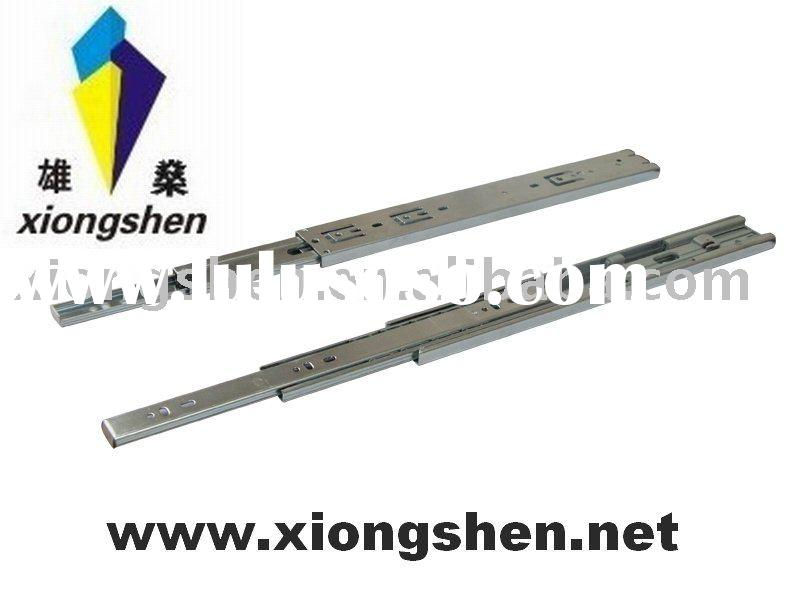 45mm automatic soft-close full extension detachable telescopic channel ball bearing drawer slide run