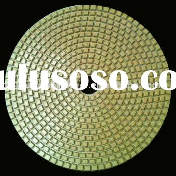 """4""""(100mm) with 2.5mm dry flexible Diamond polishing pads for Terrazzo/Concrete/Engineered Stone"""