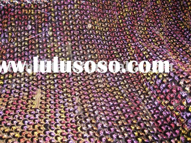 5mm spangle embroidery fabric/voile embroidery fabric/organza embroidery fabric