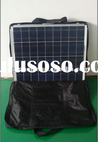 60W Folding solar panel with solar controller, supporting leg extension cable and carry bag