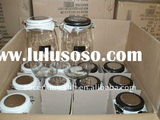 750ML storge glass jar with pp lid and clip
