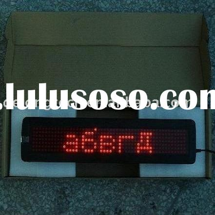 7X50 P7.62 red dot matrix scrolling moving text indoor Russian led sign display