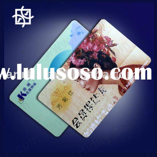 85.5*54*0.76 full color glossy and glitter effect offset printing plastic card