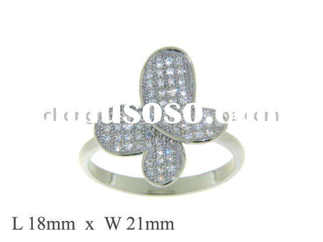 925 Sterling Silver Micro Setting Jewelry Ring
