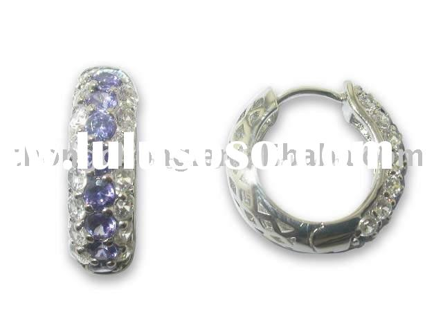 925 Sterling silver jewellery earring with cubic zirconia