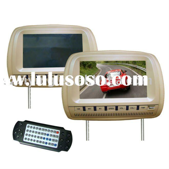 9 inch headrest car dvd player with USB port and TV