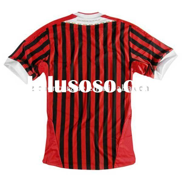 AC Milan 11-12 Home Kits Soccer Tops With Personal Design