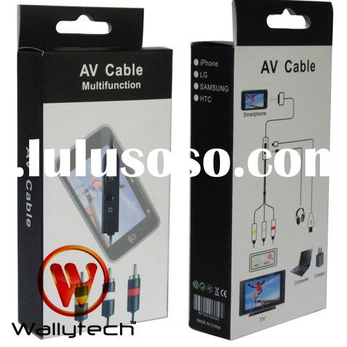 AV Cable For Apple iPhone 3gs 4G AV cable with charger