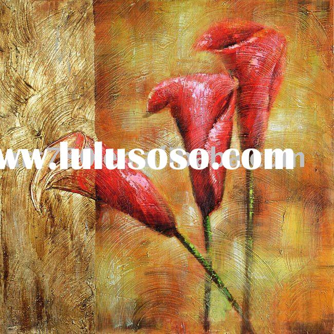 Abstract flower paintings (canvas oil painting, handmade oil painting)