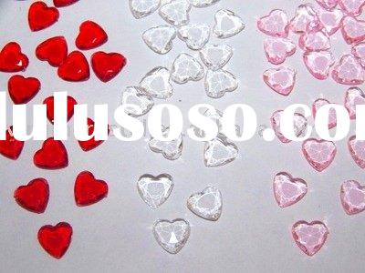 Acrylic Heart Diamond Confetti Wedding Table Decoration