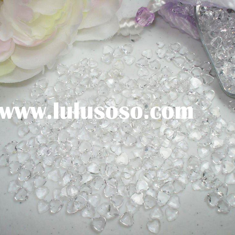 Acrylic Heart-shape Diamond Confetti Wedding Table Decoration