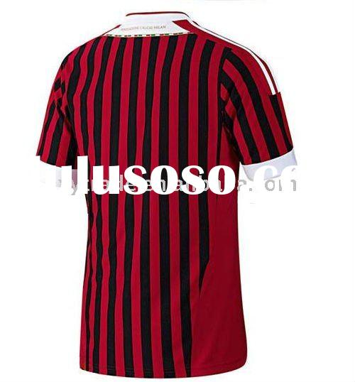 Adult soccer jersey,FC AC Milan home 2011-2012 season