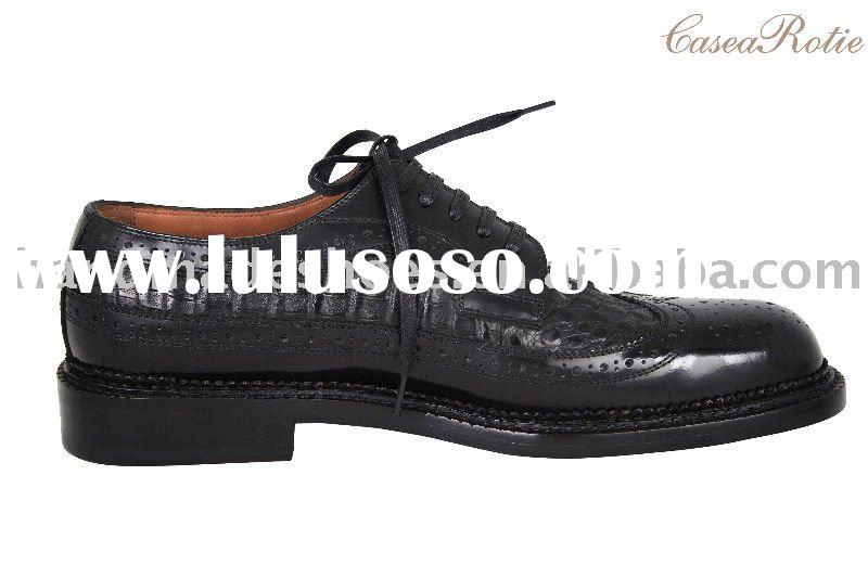 Alligator skin casual man shoe purely handmade for the high-grade group made in china