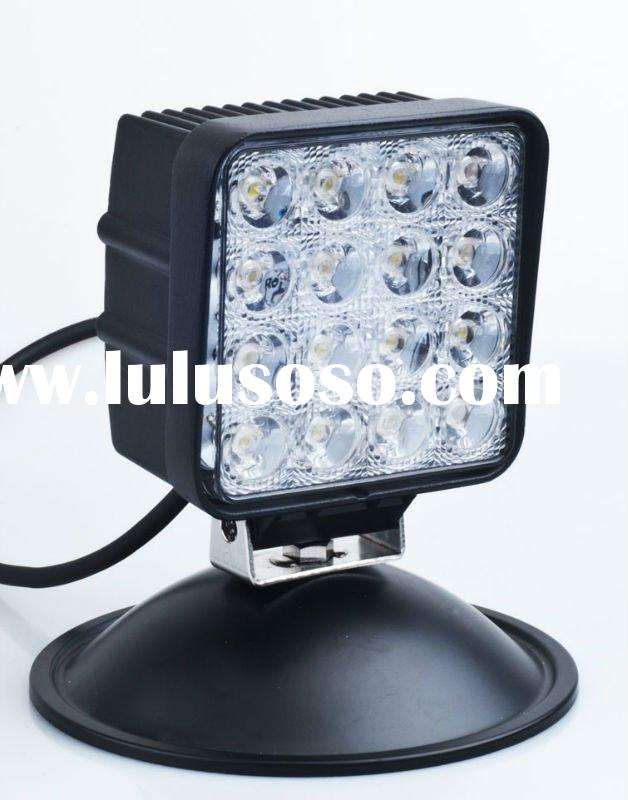 Aluminum-Housing 12V 48W LED work light for truck, CREE chip, waterproof (1210-48W)