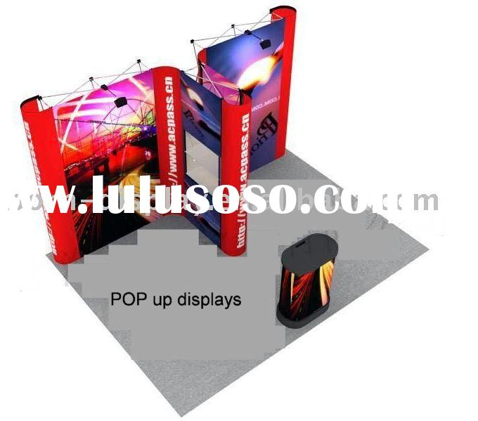 Aluminum pop up display for exhibition stand