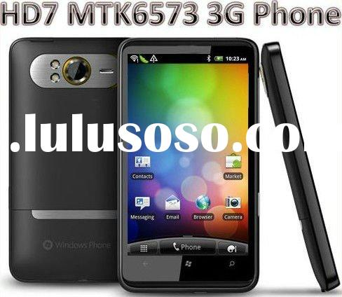 "Android 2.3 MTK6573 3G Dual sim Cellphone HD7 4.3"" Capacitive Unlocked Mobile Phone"