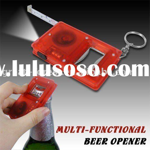 BOTTLE OPENER WITH LED LIGHT WITH TAPE MEASURE