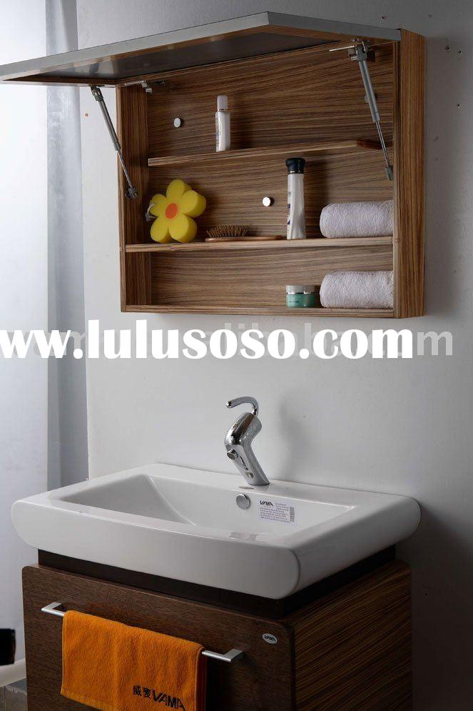Bathroom hardwood wall cabinets/wooden mirror cabinet vanity/solid wood bathroom cabinet V-13072