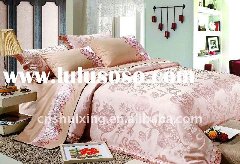 Beautiful Patched Embroidery & Jacquard T/C Duvet Cover Bedding Set