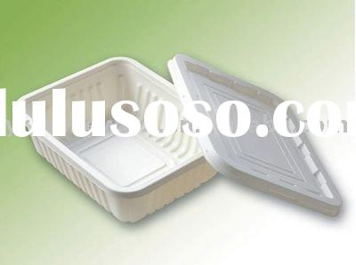 Biodegradable and compostable take out food box