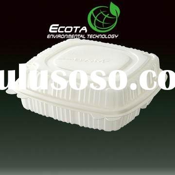Biodegradable fast food box, made of plant starch, ASTM D6400 and EN13432 certified
