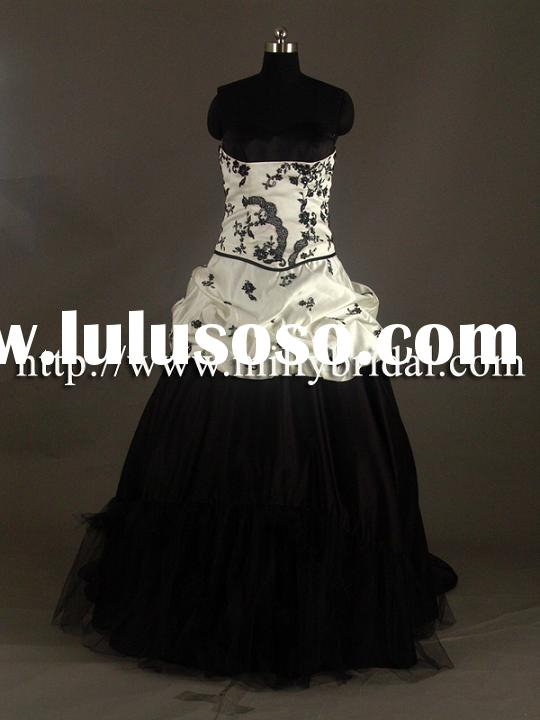 Black and White Wedding Dresses,WG1016